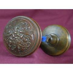 #9183 - Pair of Antique Brass Doorknobs image