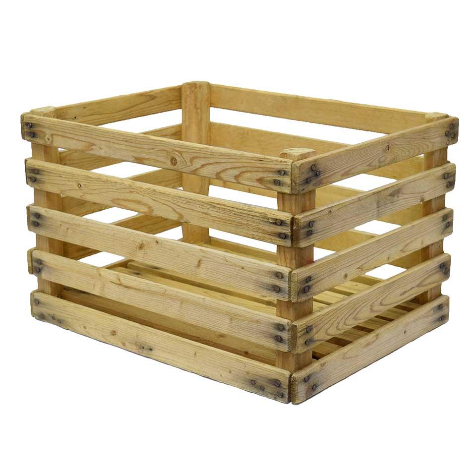 Wood Slat Crate