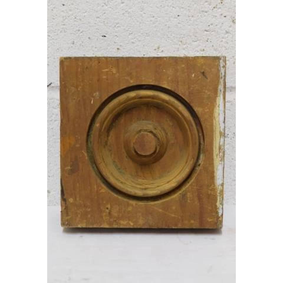 Wood Rosette Trim Block