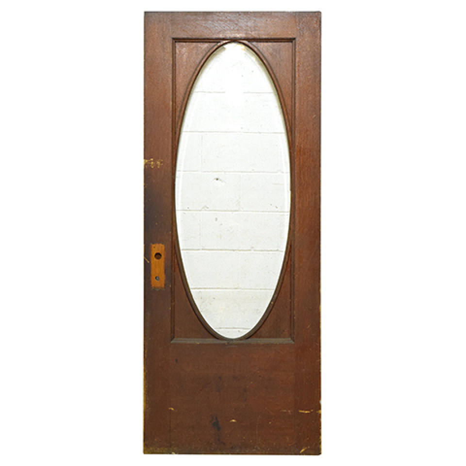 Oval Lite Entry Door