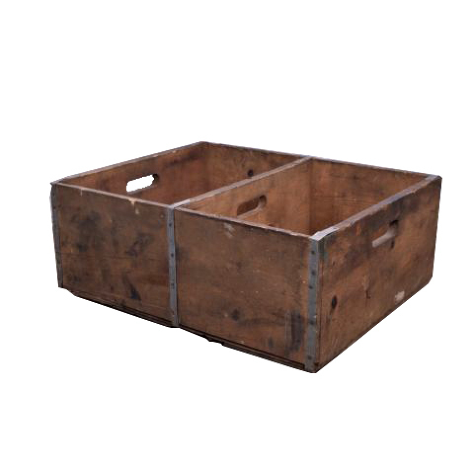 Antique Divided Wood Crate
