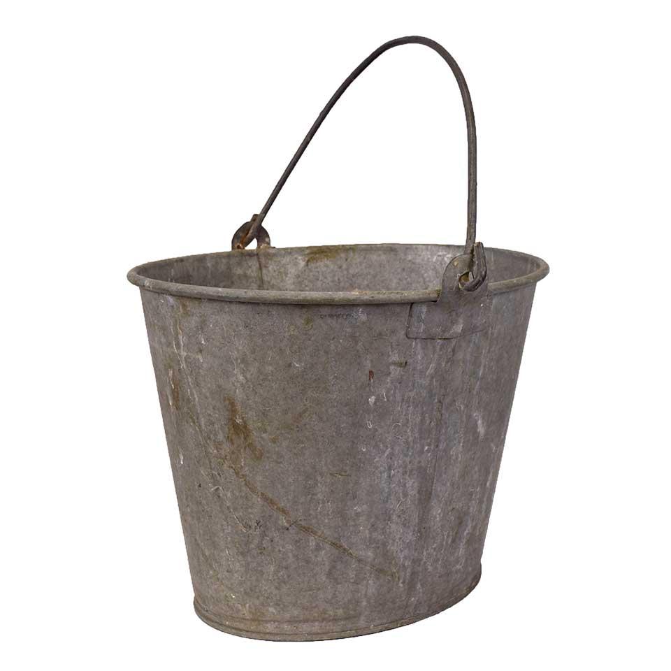 Old Oval Metal Bucket