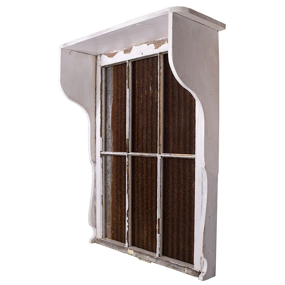 Repurposed Window Wall Shelf