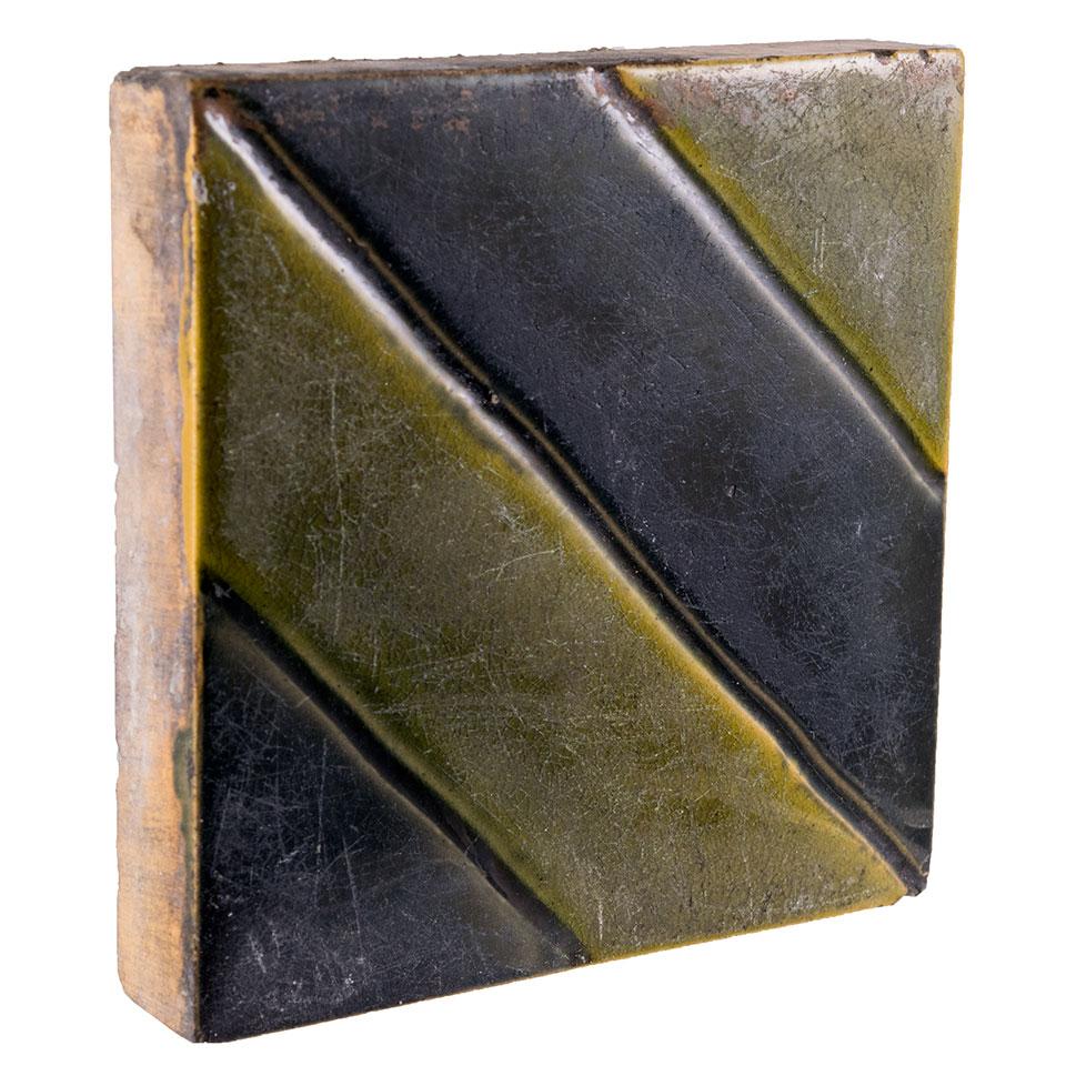 Salvaged Ceramic Fireplace Tile