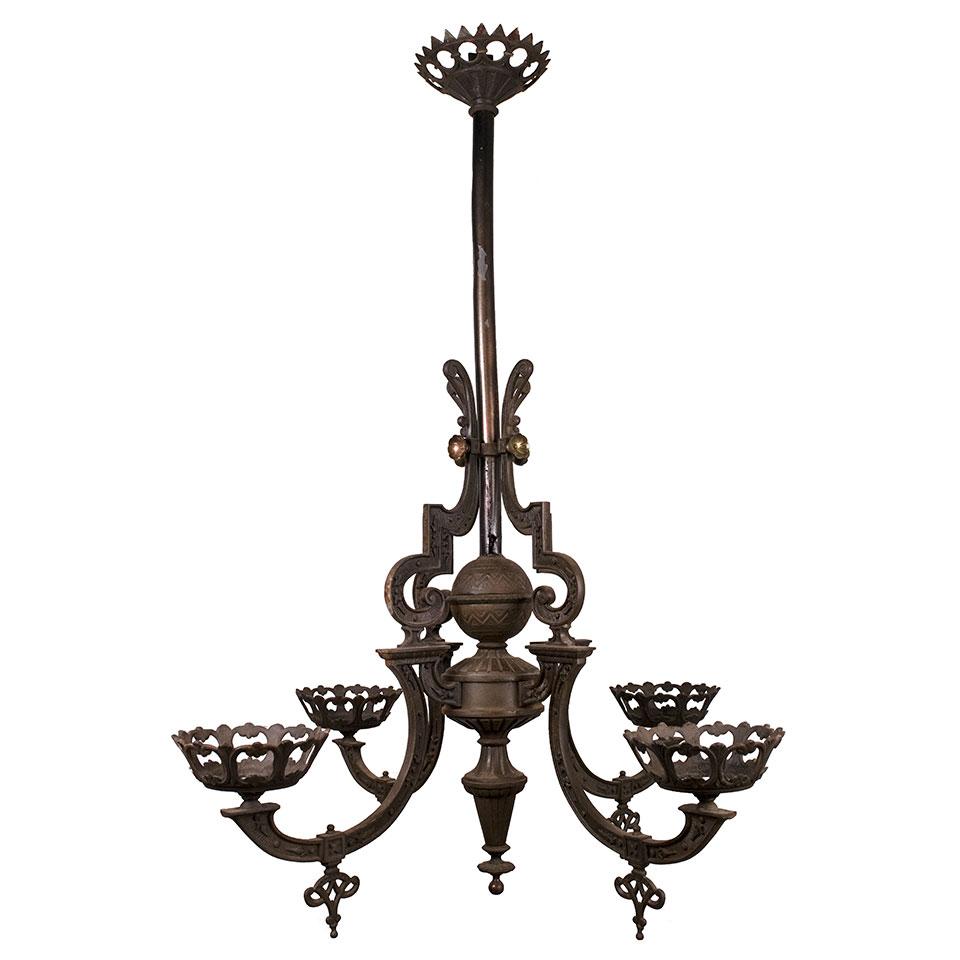 - Antique Oil Lamp Chandelier