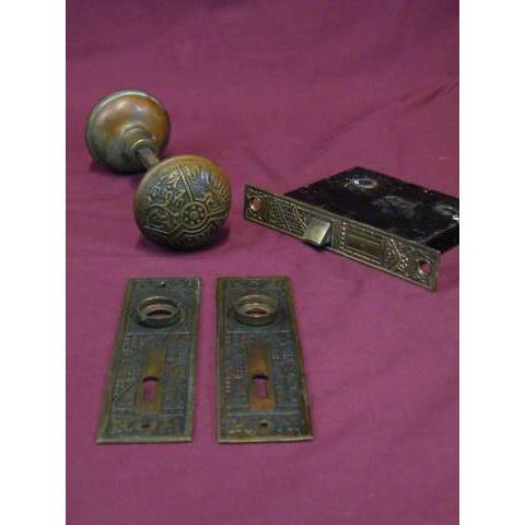#10862 Victorian Eastlake Door Hardware Set image 1
