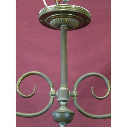 #11363 Brass and Milk Glass Chandelier image 2