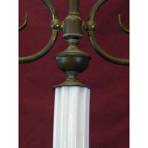 #11363 Brass and Milk Glass Chandelier image 3
