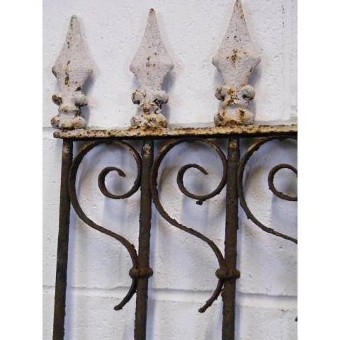 #11799 Wrought Iron Fence Section image 3