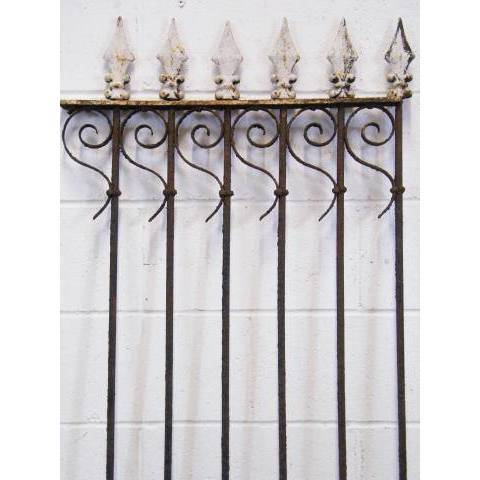 #11801 Wrought Iron Fence Section image 2