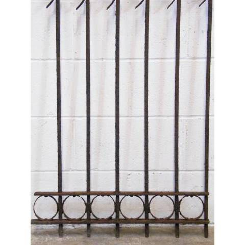 #11801 Wrought Iron Fence Section image 3