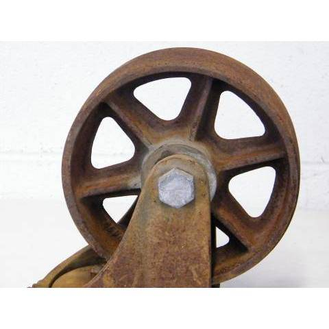 #12715 Cast Iron Cart Wheels image 3