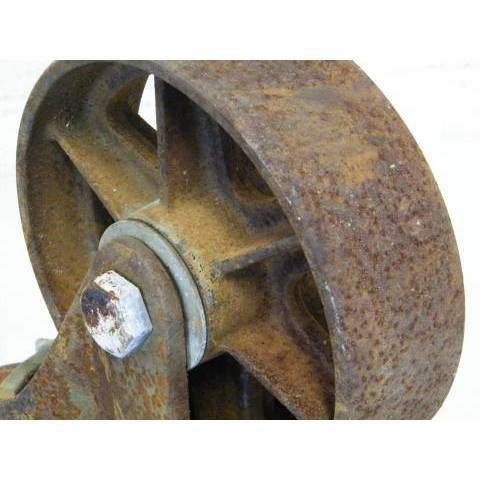 #12715 Cast Iron Cart Wheels image 4