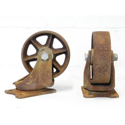 #12715 Cast Iron Cart Wheels image 1