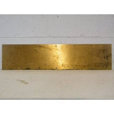 #14233 Brass Door Kick Plate image 1