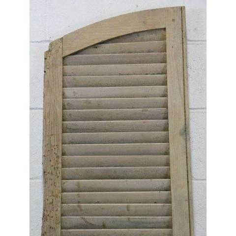 #15648 Exterior Arched Louvered Shutter image 2