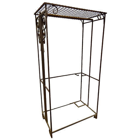 #17194 Wrought Iron Garment Rack image 1