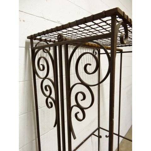 #17194 Wrought Iron Garment Rack image 3