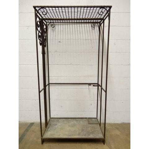 #17194 Wrought Iron Garment Rack image 2
