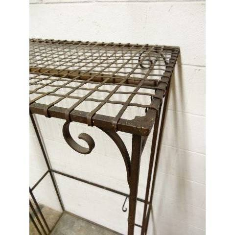 #17194 Wrought Iron Garment Rack image 5