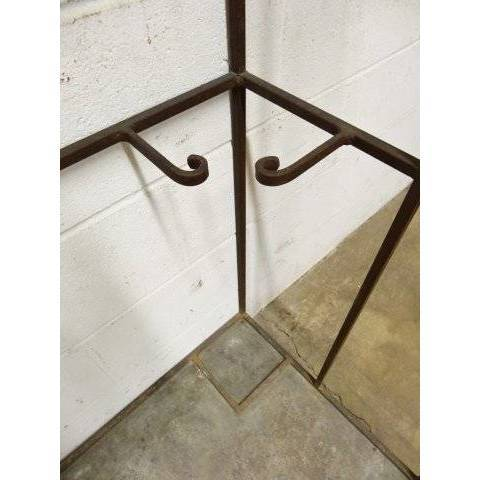 #17194 Wrought Iron Garment Rack image 6