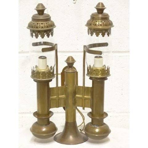 #17684 Brass Railroad Wall Sconce image 1
