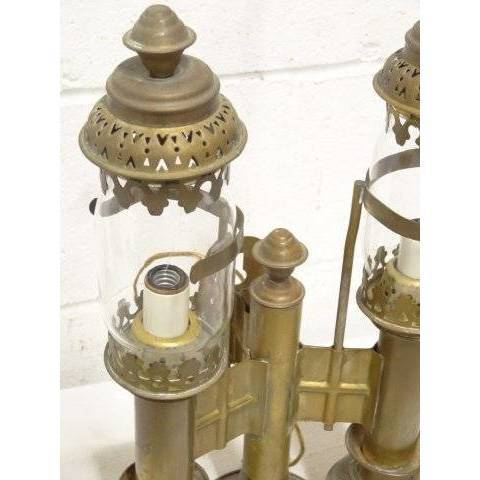 #17684 Brass Railroad Wall Sconce image 2