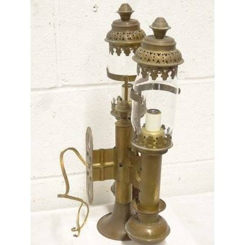 #17684 Brass Railroad Wall Sconce image 3