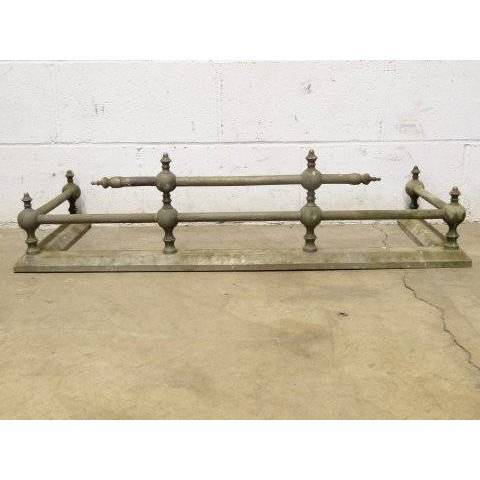 #17700 Antique Brass Fireplace Fender image 1