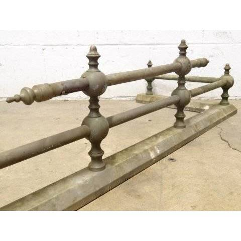 #17700 Antique Brass Fireplace Fender image 2