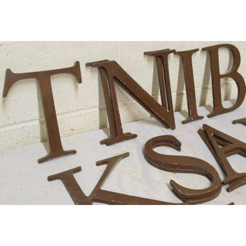 #18042 Salvaged Metal Sign Letter image 2