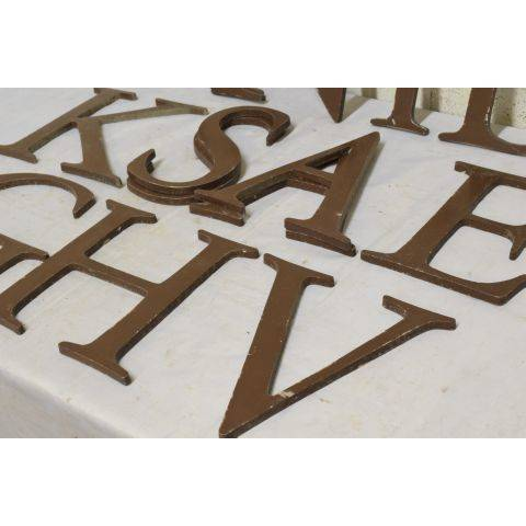 #18042 Salvaged Metal Sign Letter image 3