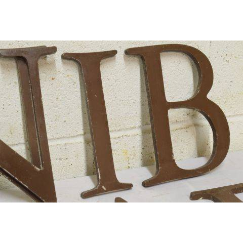 #18042 Salvaged Metal Sign Letter image 4