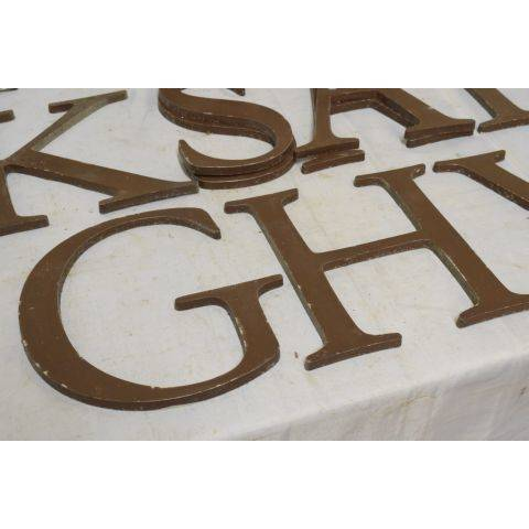 #18042 Salvaged Metal Sign Letter image 5