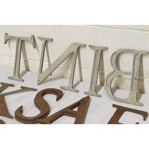 #18042 Salvaged Metal Sign Letter image 6