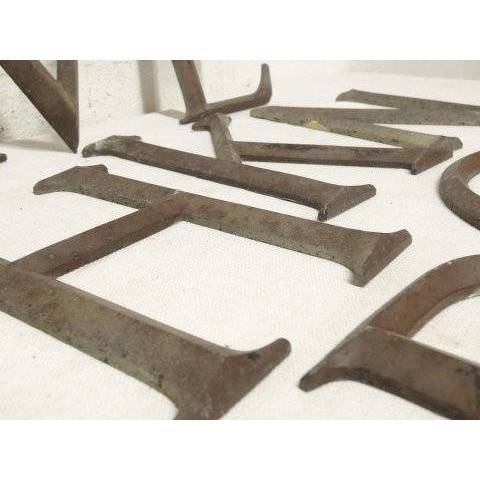 #18043 Salvaged Metal Building Letters image 2