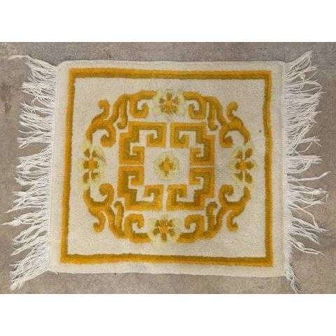 #18105 Small Antique Woven Rug image 1