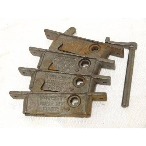 #18276 Window Latch Hardware with Key image 1