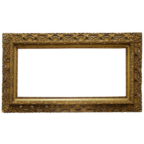 #19177 Antique Gesso Picture Frame image 1
