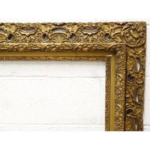 #19177 Antique Gesso Picture Frame image 2