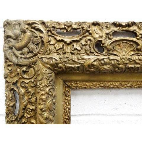 #19177 Antique Gesso Picture Frame image 4