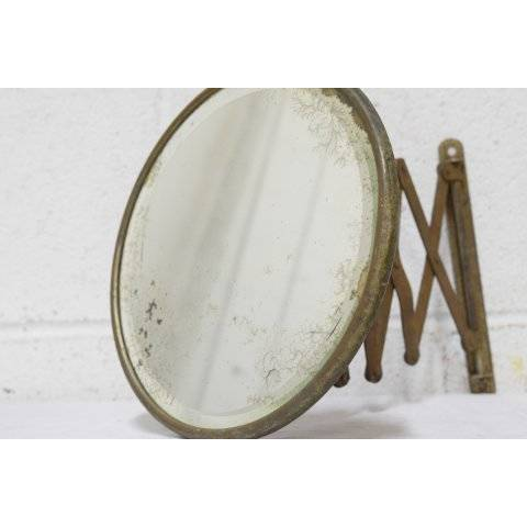 #20620 Antique Retractable Shaving Mirror image 3