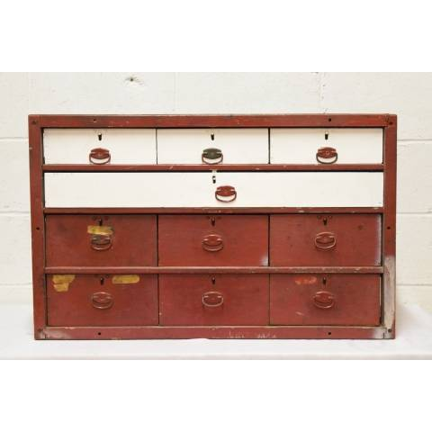 #21026 Antique Wood Storage Cabinet image 2