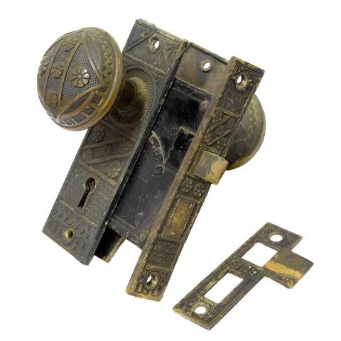 #21033 Salvaged Door Hardware Set image 1