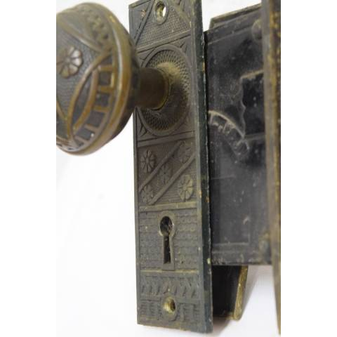 #21033 Salvaged Door Hardware Set image 3