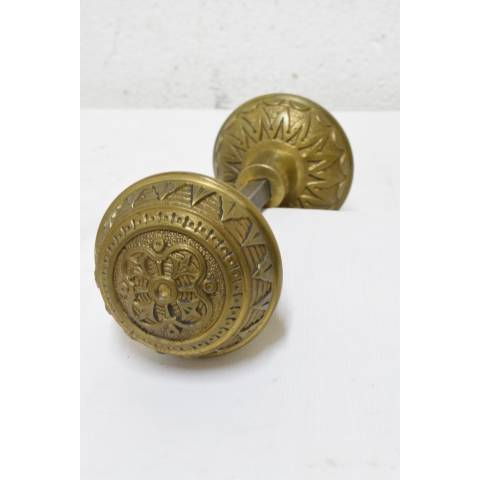 #21361 Antique Brass Doorknobs Hardware image 1