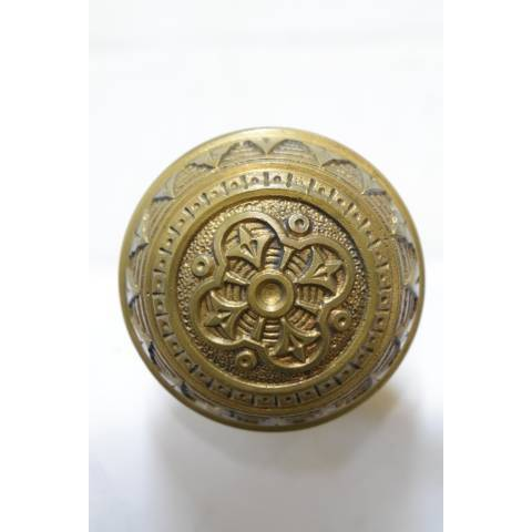 #21361 Antique Brass Doorknobs Hardware image 2