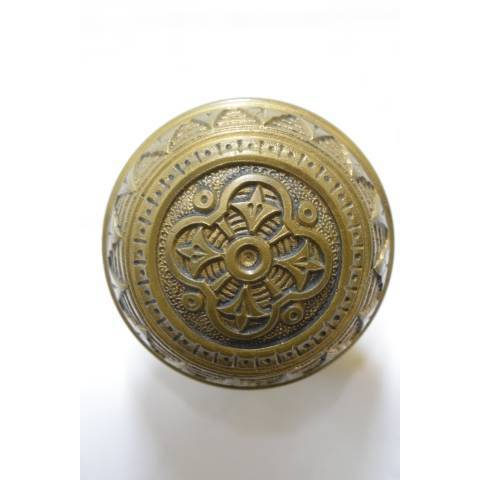 #21361 Antique Brass Doorknobs Hardware image 3