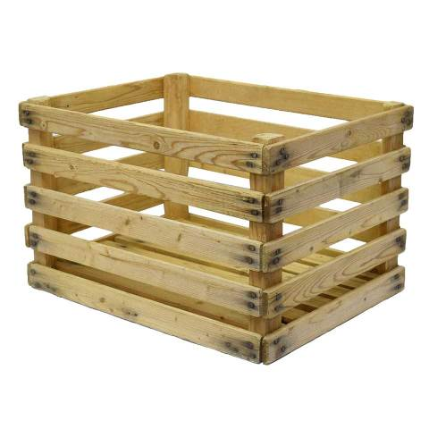 #21824 Wood Slat Crate image 1