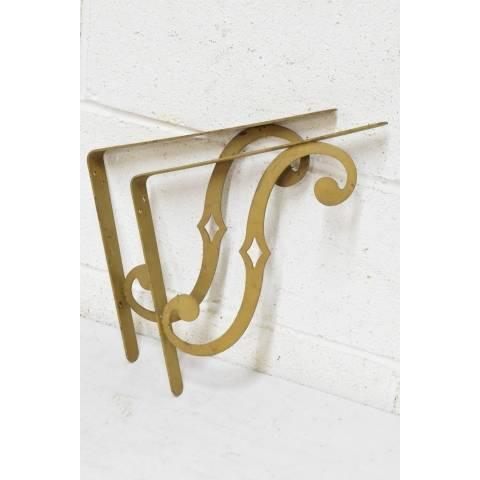 #22484 Salvaged Metal Shelf Brackets image 1